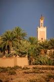 Kasbah Taourirt Минарет Ouarzazate Марокко Стоковые Фото