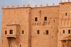 Kasbah Taourirt. Detail facade. Ouarzazate. Morocco. Stock Photos