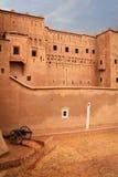 Kasbah Taourirt Detaljfasad Ouarzazate morocco Arkivfoto