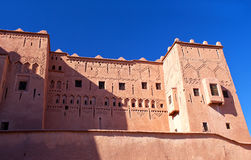 Kasbah Taourirt in eastern Ouarzazate, Morocco Royalty Free Stock Image
