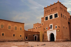 Kasbah Taourirt Ouarzazate morocco Royaltyfria Foton
