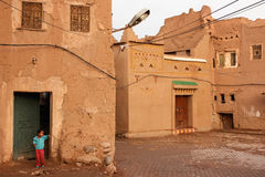 Kasbah Taourirt. square in the medina. Ouarzazate. Morocco. Royalty Free Stock Images