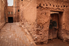 Kasbah Taourirt. street in the medina. Ouarzazate. Morocco. Royalty Free Stock Photos