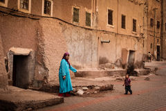 Kasbah Taourirt. street in the medina. Ouarzazate. Morocco. Royalty Free Stock Image