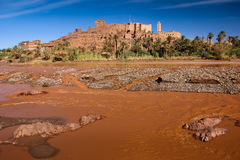 Kasbah Tifoultoute Ouarzazate morocco Royaltyfria Foton