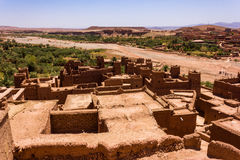 Kasbah. A typical kasbah of Morocco stock images