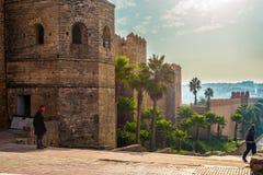 Kasbah Udayas morocco Rabat Obraz Stock