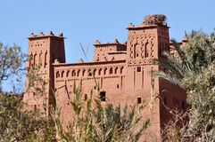 Kasbah van AIT Benhaddou, Marokko Stock Fotografie