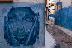 Kasbah van de Udayas-Graffiti Rabat Stock Afbeeldingen