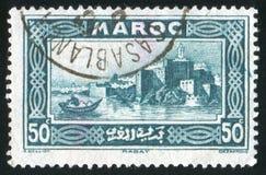 Kasbah van Oudayas royalty-vrije stock afbeeldingen