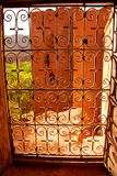 Kasbah, vista do interior. Ait Benhaddou, Souss-Massa-Drâa, Marrocos Imagem de Stock