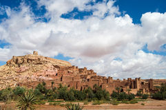 Kasbahen Ait Ben Haddou i Marocko Arkivbilder