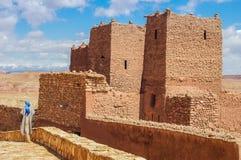 Kasbahen Ait Ben Haddou i Marocko Royaltyfri Fotografi