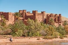 Kasbahen av Ait Benhaddou, Marocko Arkivbilder