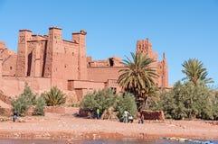 Kasbahen av Ait Benhaddou, Marocko Arkivfoto