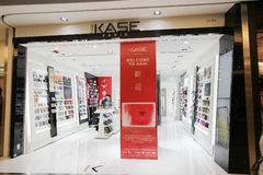 Kase-Shop in Hong Kong Stockfotos