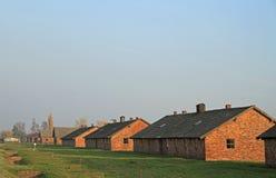 Kasernen von Konzentration und von Ausrottung Auschwitz II Birkenau kampieren Stockfotos