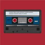 kaseta audio światła Rocznika kolor Wektorowa taśma ilustracji