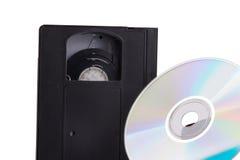 kaseta wideo contra dvd Obraz Royalty Free