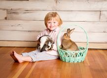 Kash and the Easter Bunny stock photography