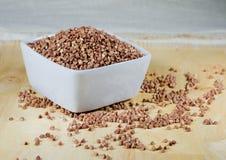Kasha buckwheat groats in a ceramic bowl Royalty Free Stock Image