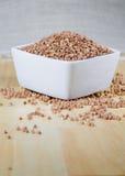 Kasha buckwheat groats in a ceramic bowl Stock Photo