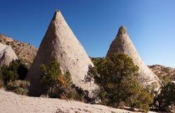 Kasha-Katuwe帐篷晃动国家历史文物,新墨西哥,美国 免版税图库摄影