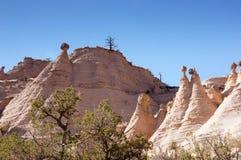 Kasha-Katuwe帐篷晃动国家历史文物,新墨西哥,美国 库存图片