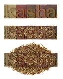 Kasha - roasted buckwheat Royalty Free Stock Image
