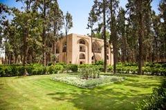 Kashan的飞翅庭院,伊朗。 库存图片
