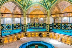 Kashan Historische Bathhouse 04 stock foto
