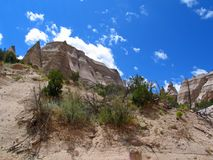 Kashe-Katuwe帐篷岩石或不祥之物的从足迹基地  库存图片