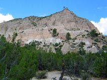 Kashe Katuwe Hoodoo rock Formation from base of Trail stock photo