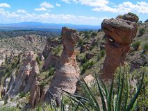 Kashe Katuwe Hoodoo rock Formations and Yucca Vista royalty free stock photography