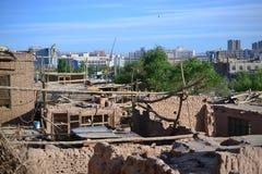 Ancient buildings of Old city of Kashgar, Xinjiang, China, Uyghur autonomous region royalty free stock images