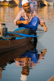 Kashmir Dal Lake Fisherman Net Fishing Stock Images