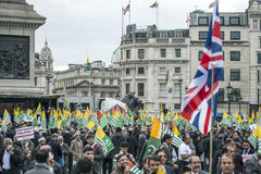 Kashmir demonstration Trafalgar Square London Fotografering för Bildbyråer