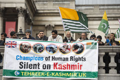 Kashmir Demonstration Trafalgar Square London Royalty Free Stock Photos