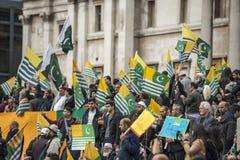 Kashmir Demonstration Trafalgar Square London Stock Photos