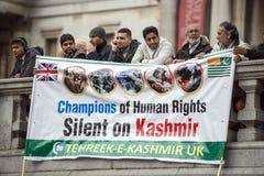 Kashmir Demonstration Trafalgar Square London Royalty Free Stock Photography