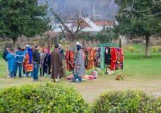Kashmir klänningaffär Royaltyfri Foto