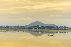 Kashmir. Photos of Shikara on Dal Lake and beautiful coloured sky and mounten this picrure takin at kashmir dal lake Stock Photos