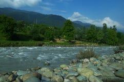 Kashmir riverscape Royaltyfri Foto