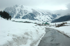 Kashmir valley. On the way to Ladakh-Kashmir royalty free stock photography