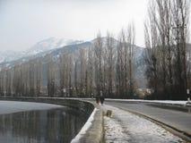 Kashmir Valley im Januar Lizenzfreie Stockfotos