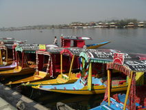 Kashmir water taxis Stock Photos