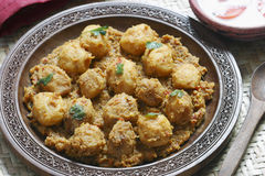 Kashmiri dum aloo from India Stock Photography