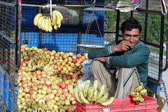 Kashmiri fruit seller Royalty Free Stock Image