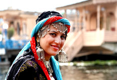 Kashmiri girl. Beautifyl face shot of kashmiri girl royalty free stock photography