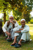 Kashmiri Men Sitting Outdoor Park Shisha Smoking Royalty Free Stock Photo